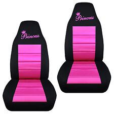 Cute Princess Front Car Seat Covers Blk Pink Red Purple Charcoal