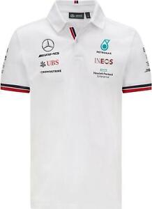 Mercedes AMG Petronas Team Polo Shirt 2021 White