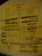 """PAQUEBOT """"PARIS"""" Cie. Gle TRANSATLANTIQUE French Line 1932. DECK PLAN"""