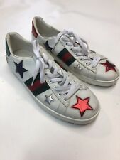 Gucci Sneakers Ace Stars Embroidered  EU 454562 Size 38