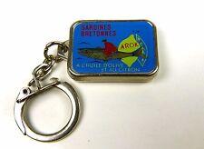 Porte-clés Key Ring - AROK - SARDINES BRETONNES - Boite de Sardines Miniature -