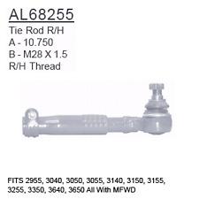 Al68255 Compatible With John Deere Tie Rod Rh 2955 3040 3050 3055 3140 315