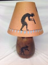 Michael Schlyer Flat Earth Pottery 1968 Lamp Kokopelli Coconut