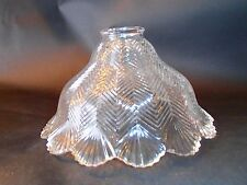 "2 1/4"" Fitter Herringbone Shade Ceiling Floor or Lamp Fixture Globe"