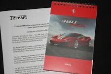 Ferrari Dossier de Presse Genève 2018 488 Pista & Texte Neuf Presse-Information