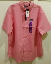 Chaps Men's Shirt Button Red/White Check XXL/2XL NWT MSRP $50