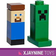 LEGO Minecraft Genuine Steve and Creeper Minifig Set Official LEGO Figures! NEW