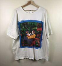 Mickey Mouse Minnie Canoe Disney Shirt Vintage 2XL