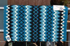 """Mayatex Arroyo Seco Elite Show Saddle Blanket Pad 38"""" x 34""""-Black/Turquoise/Blue"""