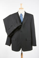 Mens POLO RALPH LAUREN Tuxedo 46L Raven Black Wool Peak Lapel ITALY x Corneliani
