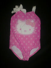 Hello Kitty Girls Pink One Piece Swimsuit Bathing Suit Size 4
