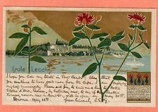 More details for lake garda italy art nouveau deco lago di garda isole lecchi pc used 1914  ah713