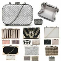 New Womens Clutch Bag With Metallic Tones Women's Caged Finish Evening Bag
