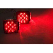 "2PC Red LED Submersible SQ Trailer Lights Kit Under 80"" Stop License Tail Brake"