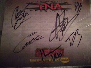 TNA Wrestling Live Autographs lot