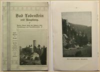 Orig. Prospekt Bad Lobenstein um 1900 Reise Ortskunde Geografie Geographie sf