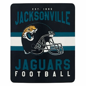 Jacksonville Jaguars Black&Blue NFL Fleece Throw Blanket New Design 50'' x 60''