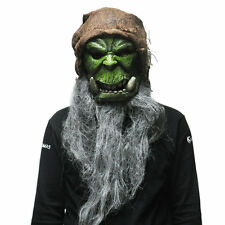 Popular Cool Orcs Guldan Mask Cosplay Adult Scary Latex Masks Halloween Party