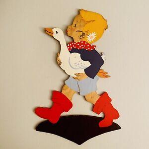 1950er Mertens-Kunst 22cm Polka Dot Junge SHABBY CHIC Kurze Hosen Figur VIntage