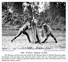 1913 British Guiana Barina River Warau Shield Game