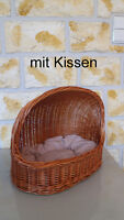 Hundekorb Katzenkorb Katzenbett Hundebett Kissen Weiden Korb Weidenkorb Katze