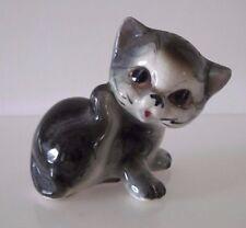 Vintage Empress Japan Kitten, Kitty Cat Figurine, Gray and White