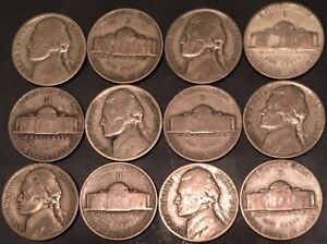 1944-D (2) COINS FROM GROUP/(2) SILVER WAR /JEFFERSON NICKEL /FAST SHIPPING