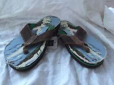 Gap Boy Kid Youth Slippers 10/11 M Fabric Upper Rubber Sole Walk Comfort New