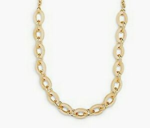 NWT TALBOT'S OFF-WHITE IVORY BONE COLOR CHAIN-LINK NECKLACE RV $59.50