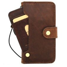 Genuine real leather Case for iphone 7 wallet book cover handmade strap luxury
