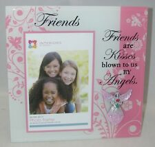 "Interiors by Design FRIENDS ARE KISSES Photo Frame 4"" x 6"""