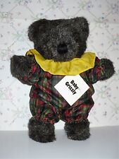 VINTAGE 1982  BABY GRIZZLY BEAR NORTH AMERICAN BEAR CO PLAID SUIT YELLOW NWT