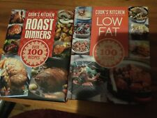 2 NEW Cooks Kitchen books. Roast dinners and low fat.