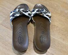 Women's Dr Scholl's Advanced Comfort Series Sandals Slides Animal Print 9