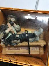 Emmett Kelly Jr. Hand Signed Wet Paint Bench Figurine 1989