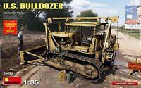 Miniart 38022 U.S. Bulldozer American Tractor Scale Plastic Model Kit 1/35