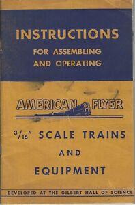 1949 GILBERT AMERICAN FLYER  INSTRUCTION BOOK M2690  GOOD CONDITION