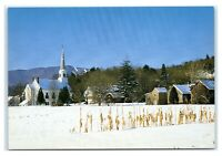 Postcard Vermont's Mad River Valley, Waitsfield VT snow winter M2