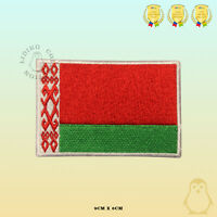 Belarus National Flag Embroidered Iron On Sew On Patch Badge For Clothes Etc