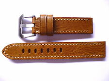 - 20mm Watch Strap Band with Buckle - 20/20mm Leather Panerai Style