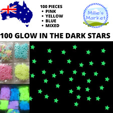 100 Stars - Glow In The Dark Wall Decal - Ceiling Sticker Decor - Night Light