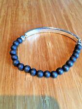 Thomas Sabo Lovebridge bracelet with black obsidian beads. Genuine item with box