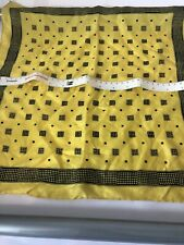 Yellow/Black Silk Handkerchief 16x16in