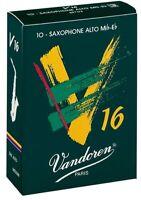Vandoren V16 Alto Saxophone Reeds - 3 Strength - Box of 10