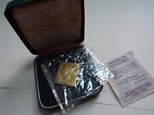 Philympia London 1970 Gold Plated Stamp Postage One Penny with COA and Box