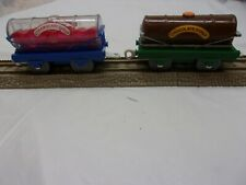 Thomas the train trackmaster Hit Toy Chocolate & STRAWBERRY Syrup TANKERS  L 512
