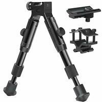 3 in 1 Tactical Rifle Bipod + Rail Mount Adapter + Barrel Clamp