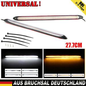 2x LED Tagfahrlicht Scheinwerfer DRL Blinker Beleuchtung Streifen Blinkfunktion