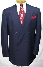Jos A. BanK BLUE PINSTRIPE 2 pc SUIT Double Breasted 40 42 L GATSBY Gangster