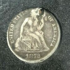 1872 Seated Liberty Dime -XF